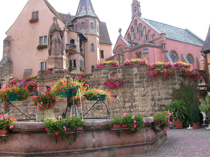 Castle of the Counts of Eguisheim - birthplace of Pope St. Leo IX photo by Mschlindwein