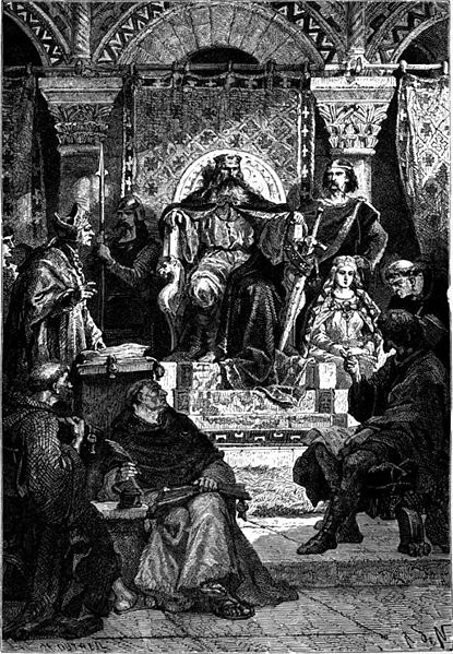 Charlemagne Presiding at the School of the Palace