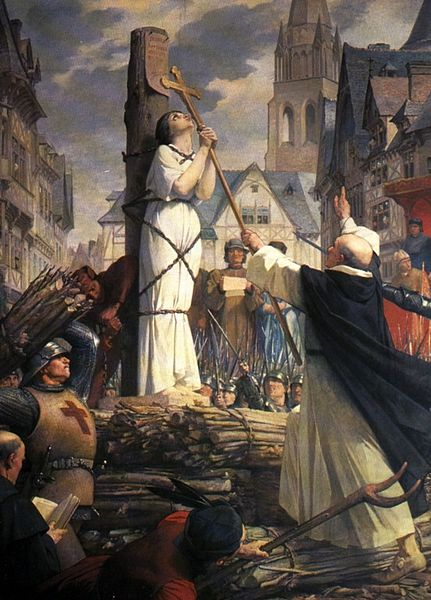 http://commons.wikimedia.org/wiki/File:Joan_of_arc_burning_at_stake.jpg