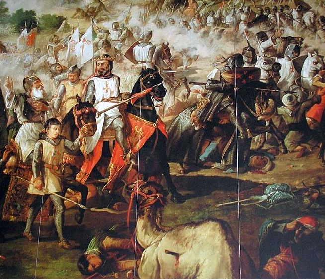 http://commons.wikimedia.org/wiki/File:Escenas_de_la_Reconquista_por_las_Ordenes_Militares._Spanish_Reconquest_._Monasterio_de_Ucles.Cuenca_.Espa%C3%B1a..jpg