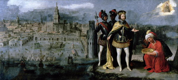 http://commons.wikimedia.org/wiki/File:Capture_of_Seville_by_Ferdinand_III.jpg