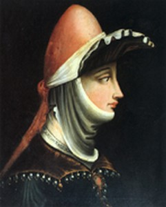 Portrait of Matilde of Tuscany, Margravine of Tuscany.