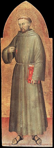Painting of St. Francis by Giovanni Da Milano