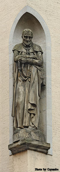 A statue of Saint Alphonsus in Luxembourg City