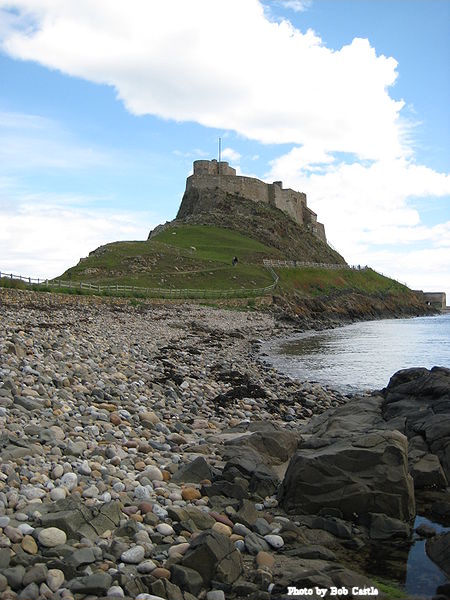 Lindisfarne Castle on Holy Island, Northumberland.