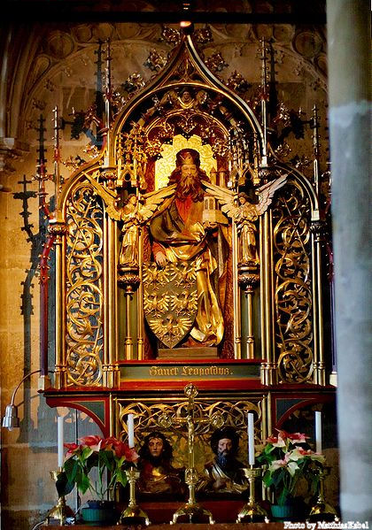 Altar of St. Leopold's Chapel in St. Stephen's Cathedral, Vienna.