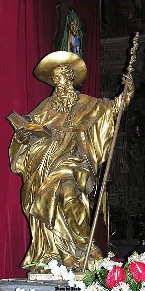 Statue of St. Jerome in St. John Cathedral in Poland
