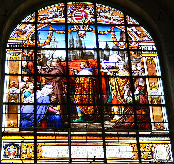 Translation of the relics of St. Elizabeth of Hungary with Emperor Frederick II and his Court.