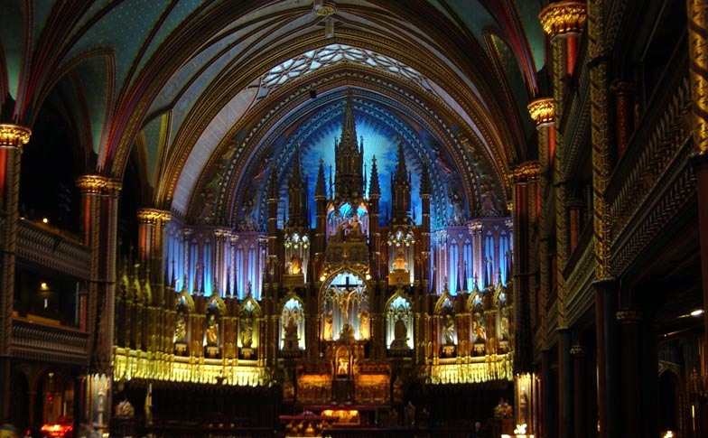 http://commons.wikimedia.org/wiki/File:MontrealNotredameFromInside.jpg