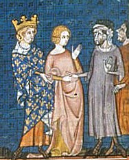 Charles the Simple giving his daughter, Gisele, to Rollo.