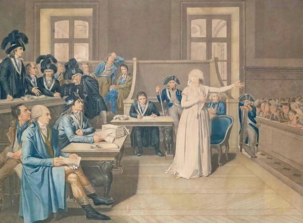 Marie Antoinette of Austria before the Revolutionary Tribunal Court by Pierre Bouillon