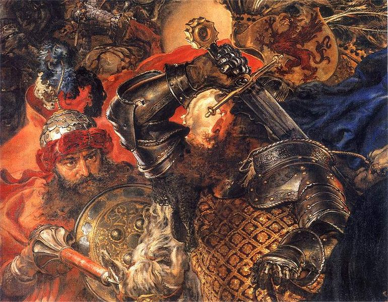 Battle painting by Jan Matejko