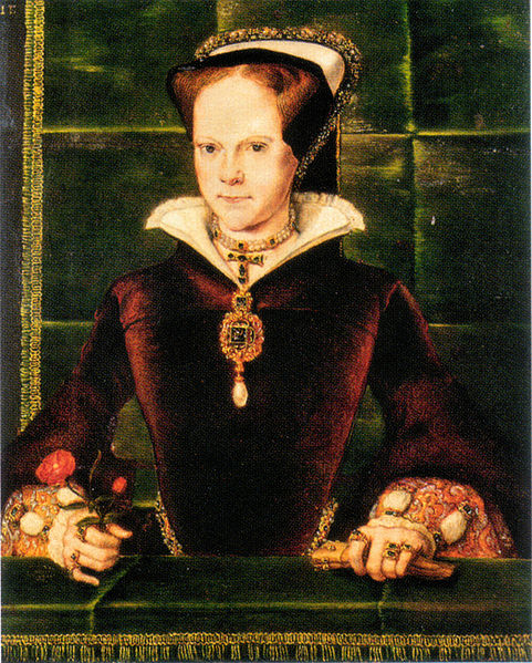 Queen Mary I painted by Hans Eworth