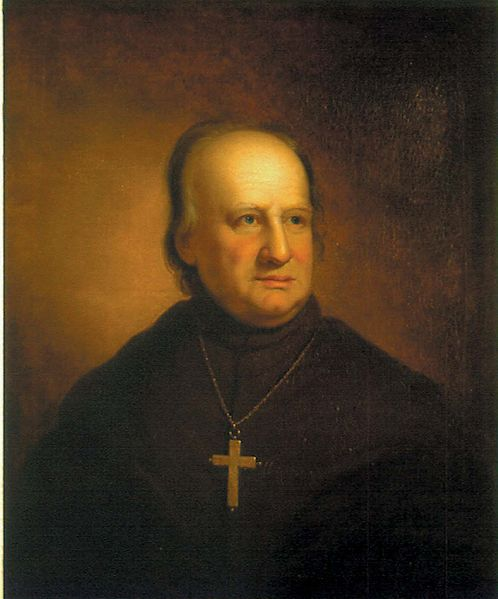 Portrait of America's first Bishop and Archbishop, John Carroll. Painted by Rembrandt Peale.