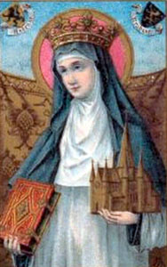 St. Begga, daughter of Pepin of Landen and his wife St. Itta.