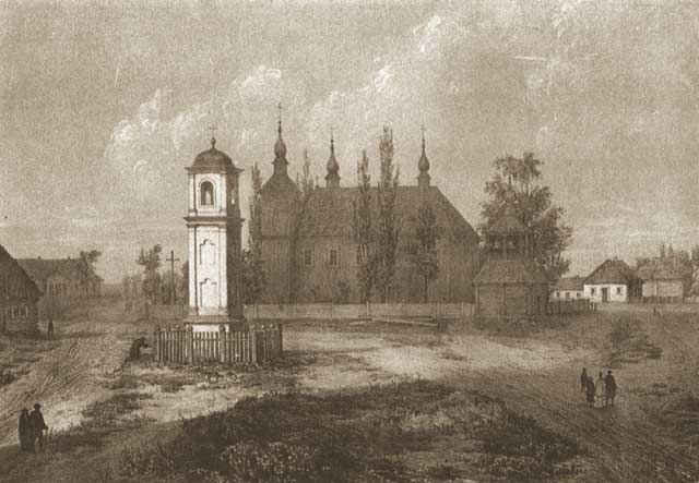 Chapel at the place of marytrdom of St. Andrew Bobola. Painting by Polish painter Napoleon Orda.