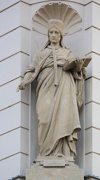 Statue of Saint Ludmila in Prague Photo by Jedudedek