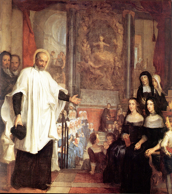 Saint Vincent de Paul with the Ladies of Charity