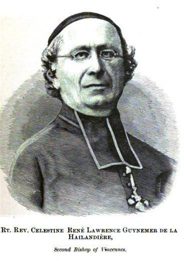 Rt. Rev. Célestine René Laurent Guynemer de la Hailandière 1798—1882, Bishop of Vincennes, Indiana.