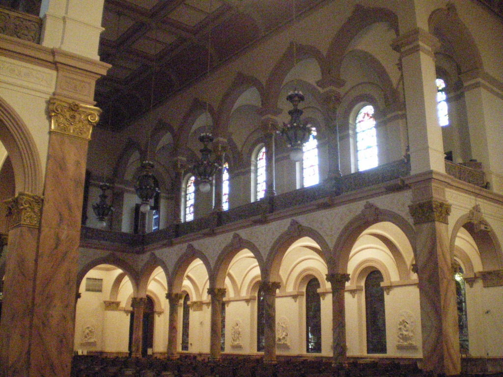 Interior of the Church of the Immaculate Conception, where St. Théodore Guérin is buried.