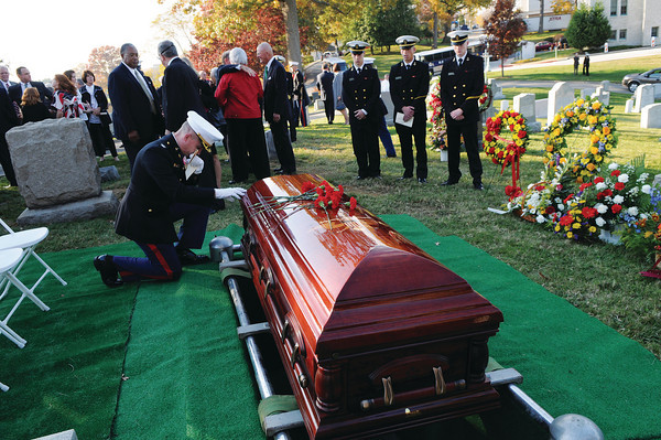 The funeral of Colonel John Ripley on November 7, 2008.