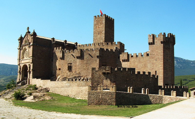 Castillo de Javier, in the province of Navarra, España.The castle of the Xavier family was later acquired by the Company of Jesus.