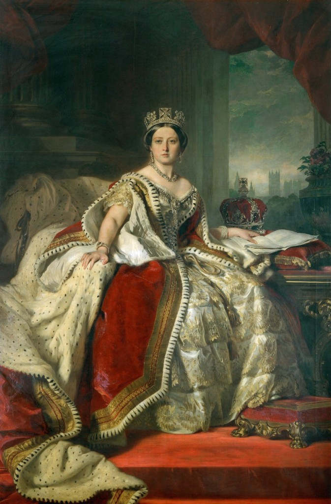 Queen Victoria, painted by Franz Xaver Winterhalter