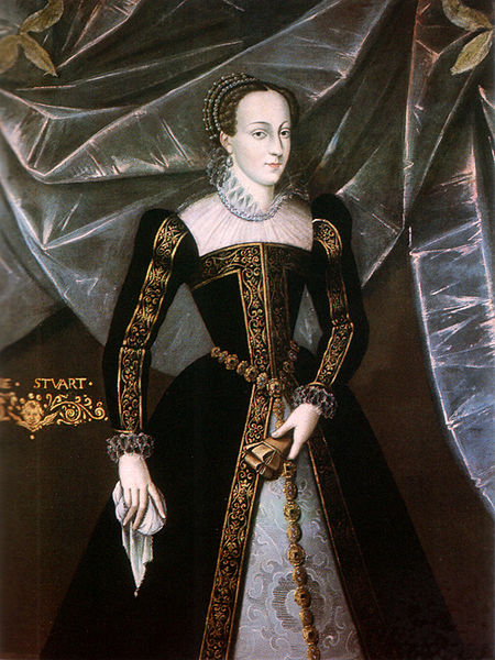 Mary Queen of Scots in an official portrait at the Blairs Museum - The Museum of Scotland's Catholic Heritage.
