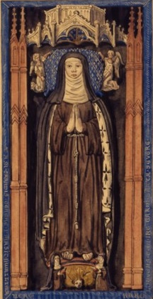 Painting of St. Isabel of France by Roger de Gaignières