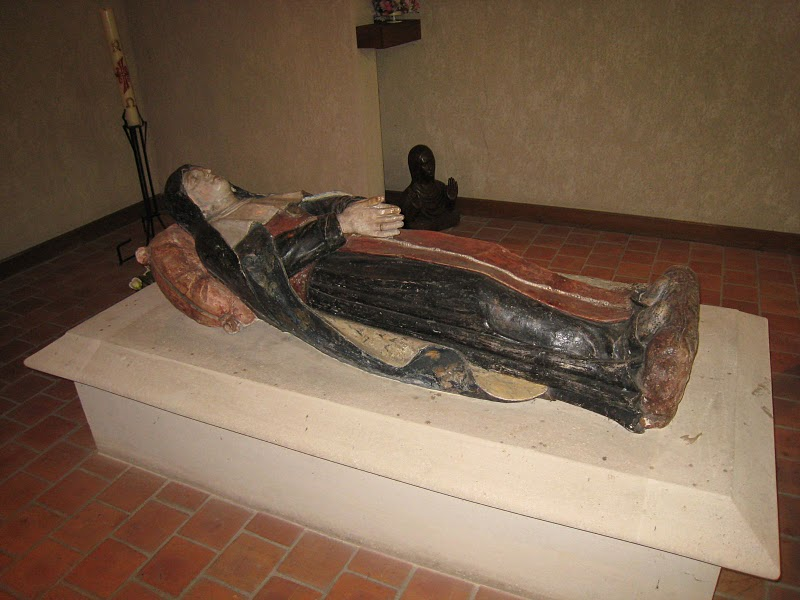 St. Joan of Valois' tomb in Bourges, France