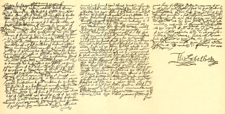 Mary Queen of Scots' death warrant, signed by her cousin Elizabeth I