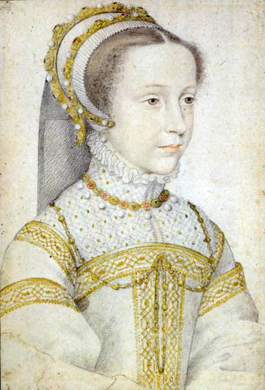 Portrait of Mary Stuart, Queen of Scots, at the age of 12 or 13 - YoungMaryStuart