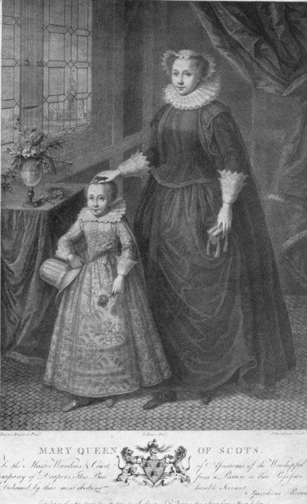 Mary, Queen of Scots, with her son, James VI of Scotland, who succeeded Elizabeth I as James I, beginning Stuart rule.