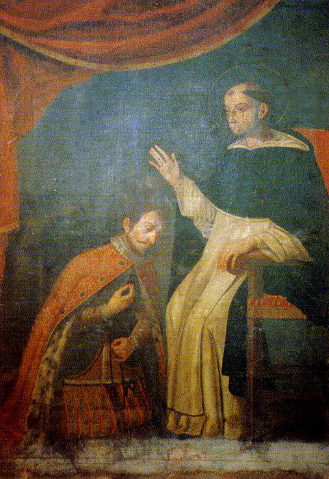 San Telmo confessor to King Saint Ferdinand III, painting at the Church of San Telmo, Gran Canaria.