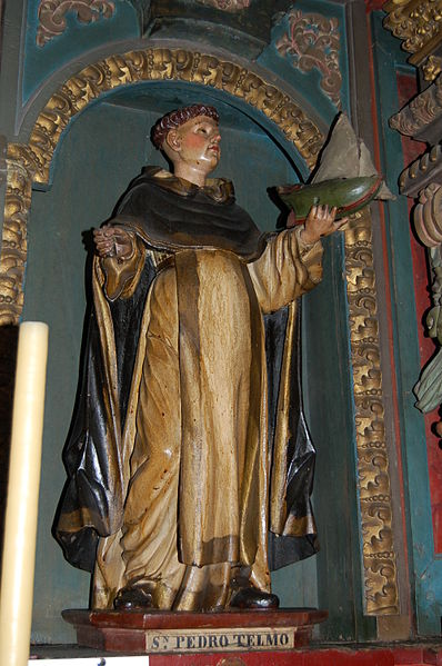Statue of Bl. Peter González (also called St. Elmo) in the Church of Saint Cajetan in Santiago de Compostela.