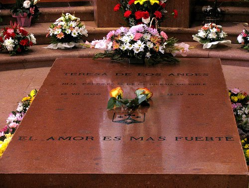 Tomb of St. Teresa of the Andes in Chile.