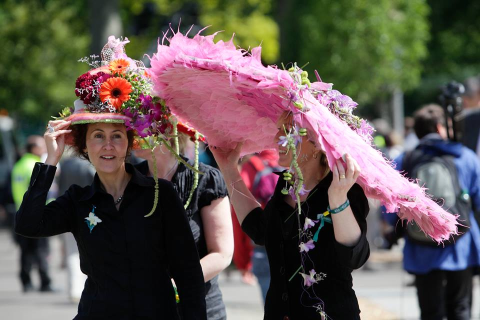 Hats at the 100th Chelsea Flower Show 2013.  Photo courtesy of Pauline Reeder