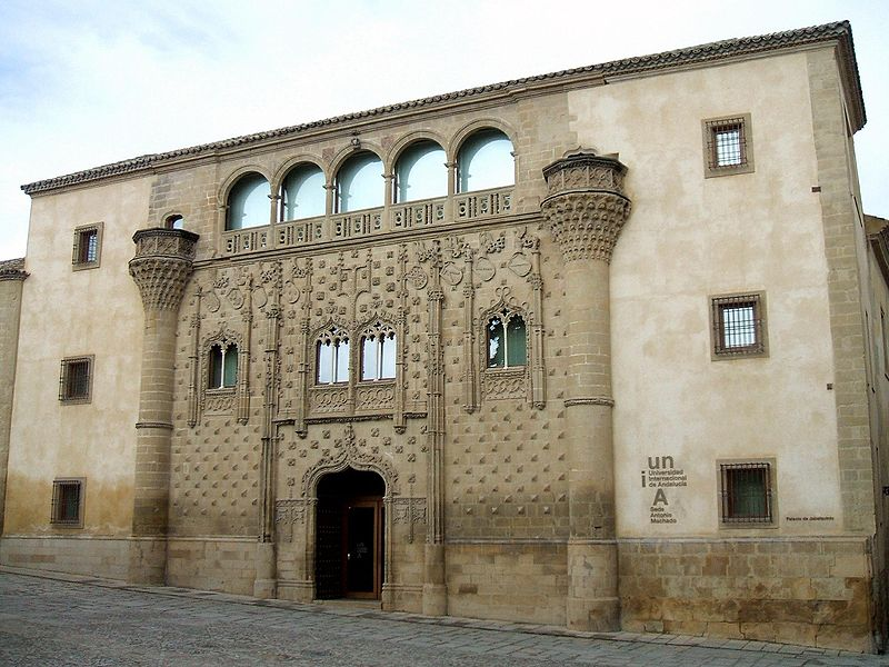 Jabalquinto Palace in Baeza. Commissioned by D. Juan Alfonso de Benavides Manrique, cousin to King Ferdinand.