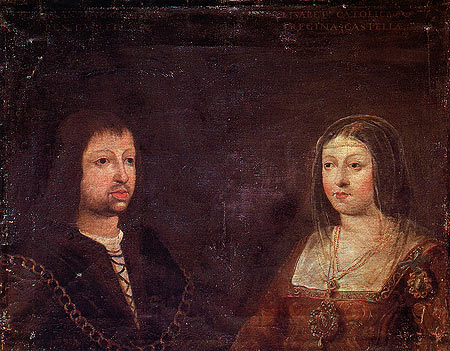 King Ferdinand of Aragon and Queen Isabella of Castile.