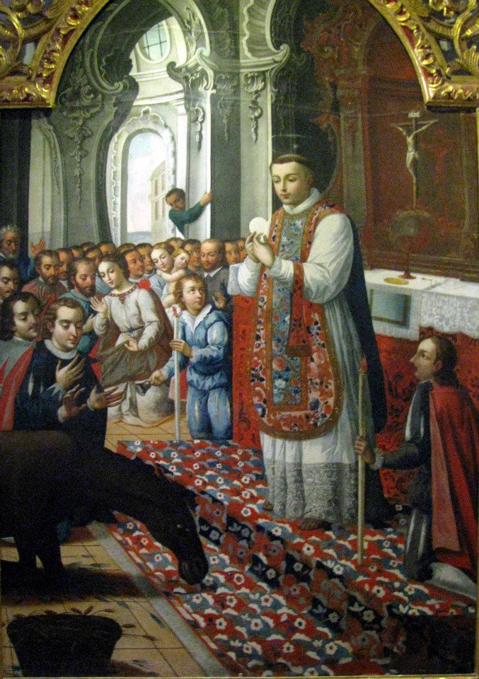 St. Anthony and the Eucharistic miracle with the donkey.