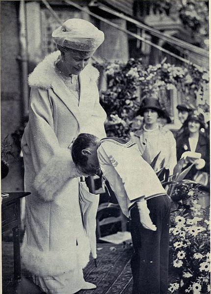 Queen Mary visits the Mary Macarthur Holiday Home, High Ongar, in 1924