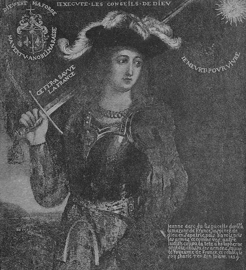 Drawing of St. Joan of Arc by Frank DuMond.