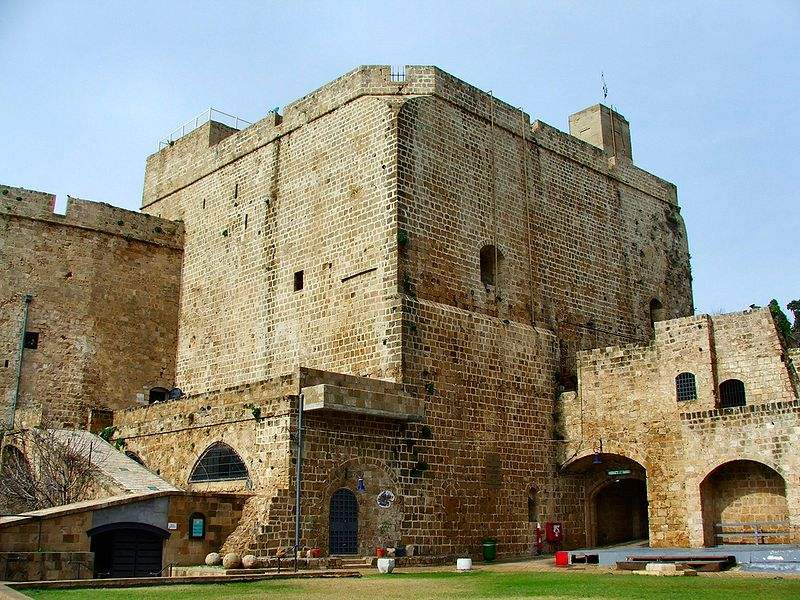 The Hospitalians' Fortress in Acre, Palestine. Inside is a 350m long tunnel 350m long, was constructed by the Knights Templar to serve as a strategic underground passageway linking the fortress with the port., was constructed by the Knights Templar to serve as a strategic underground passageway linking the fortress with the port.