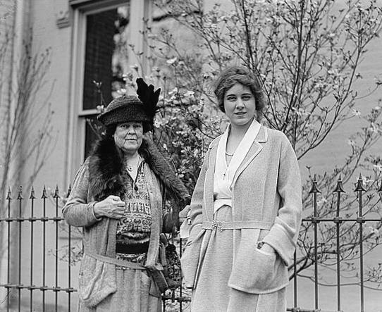 Mrs. O.H.P. Belmont (Vanderbilt) & Miss Clare Boothe, April 28, 1923.