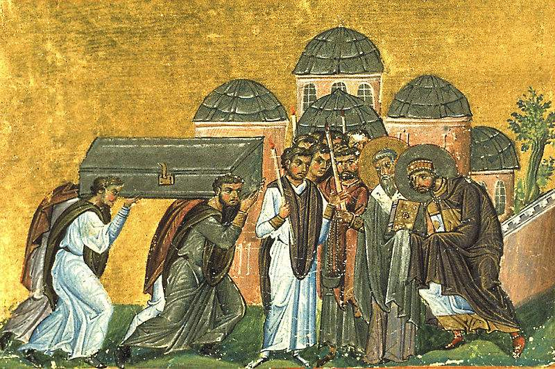 Translation of the relics of St. John Chrysostom in Constantinople in the church of the Apostles.