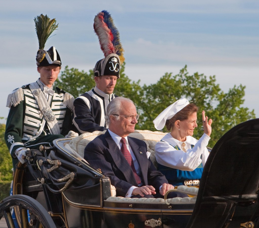 King Carl XVI Gustaf of Sweden and Queen Silvia at Skansen, Stockholm 2010. Photo by Bengt Nyman.