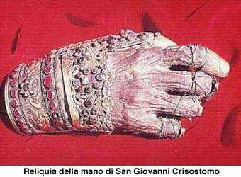 The Incorrupt right hand of St. John Chrysostom, kept at Mount Athos.