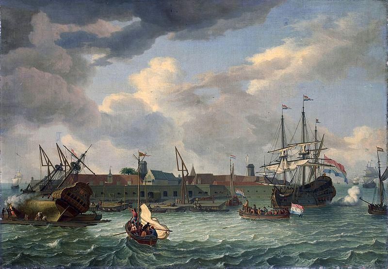 Spanish and Dutch battle at Batavia.