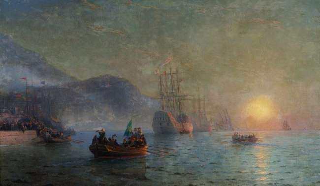Columbus on his voyage