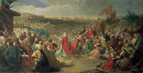The Fall of Granada in 1492, Painting by Carlos Luis Ribera y Fieve.